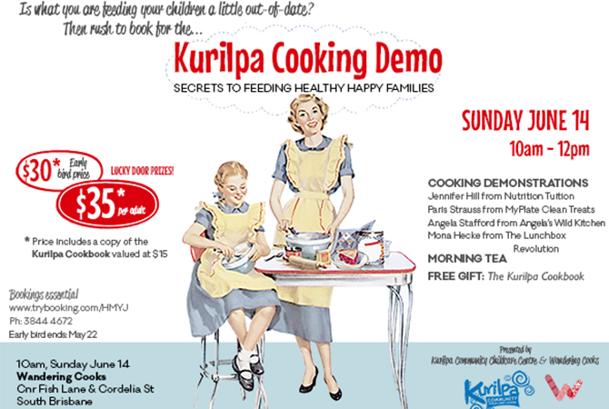 Kurilpa Cooking Demo Fundraiser