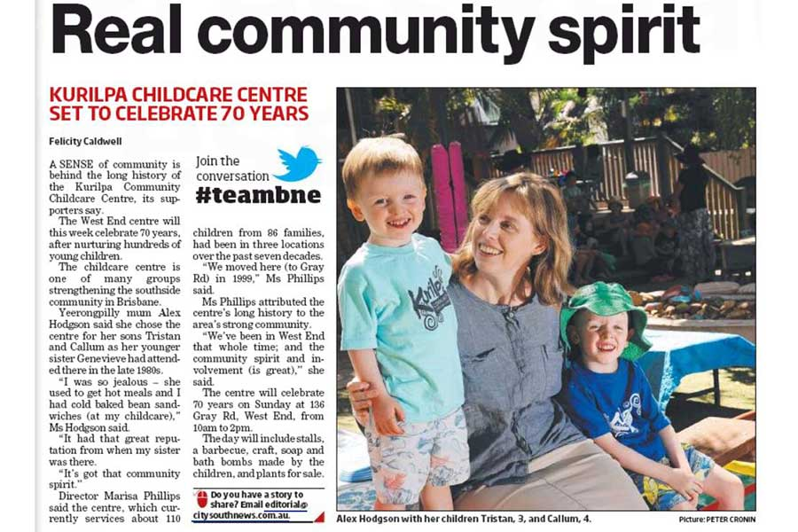 Kurilpa featured in City South News
