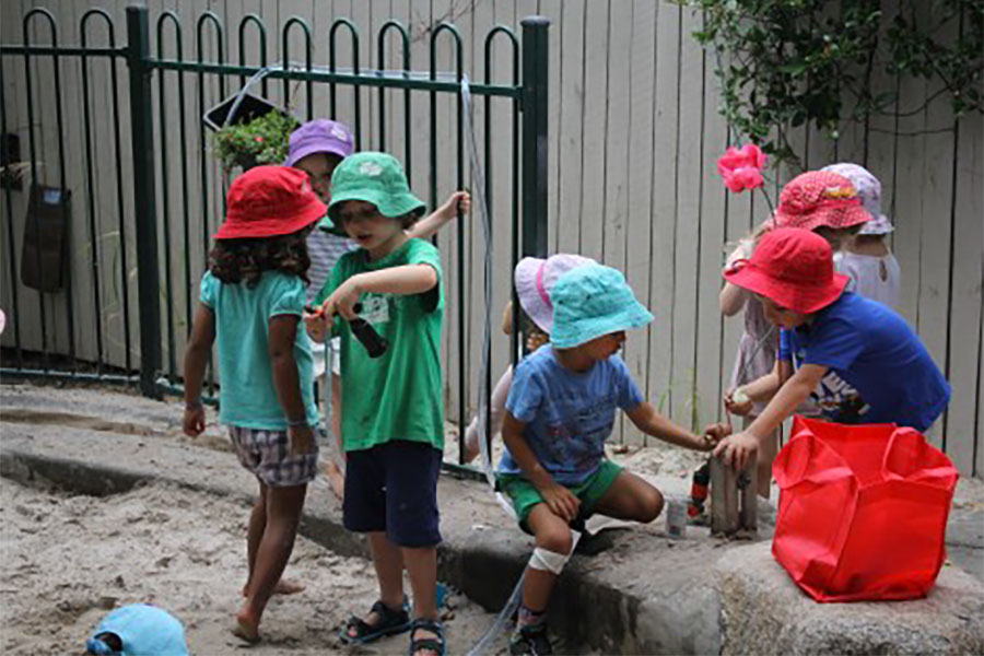 Kindy - Water feature - experimenting