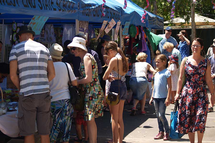 Stalls at 70th birthday celebrations