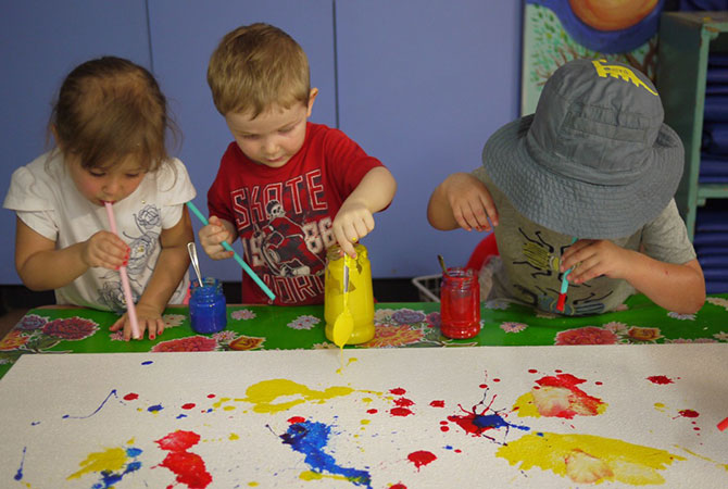 Junior Kindy - creating new artworks